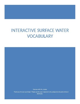 Interactive Surface Water Vocabulary