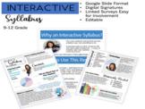 Interactive Syllabus: Google Slides Version (EDITABLE)