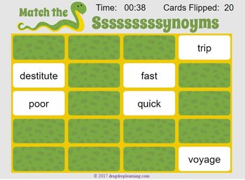 Interactive Synonym Matching Game