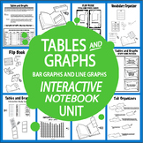 Bar Graphs and Line Graphs Interactive Notebook Unit (Create & Interpret Graphs)
