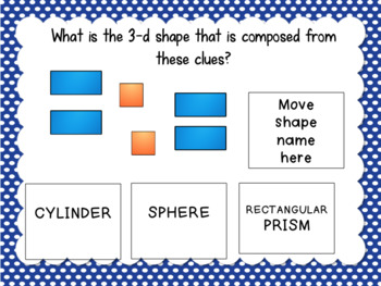 Interactive Task Cards 1.G.2 Composing 2d & 3d Shapes for Google Drive Classroom