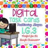 Interactive Task Cards 1.G.3 Partitioning Shapes for Google Drive Classroom