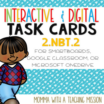 Interactive Task Cards 2.NBT.2 Skip Counting Google Drive Classroom