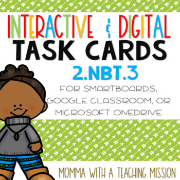 Interactive Task Cards 2.NBT.3 Expanded Form Google Drive Classroom