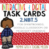 Interactive Task Cards 2.NBT.5 Algorithm Add & Subtract Google Drive Classroom