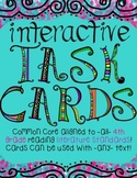 Interactive Task Cards for ALL 4th Grade Reading Literature CCSS