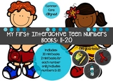 Interactive Teen Number Book 11-19