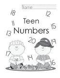 Interactive Teen Numbers Place Value Notebook