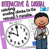 Interactive Telling Time Nearest 5 minutes Google Drive Classroom