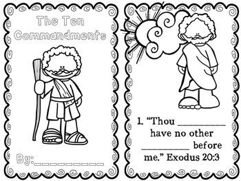 Interactive Ten Commandments Book