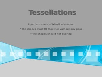 Interactive Tesselations Independent Exploration