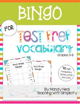 Bingo for Test Prep Vocabulary