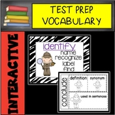 Interactive Test Prep Vocabulary Work