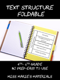 Interactive Text Structure Foldable