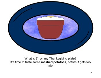 Interactive Thanksgiving Book: My Thanksgiving Plate -  PRE-K/AUTISM