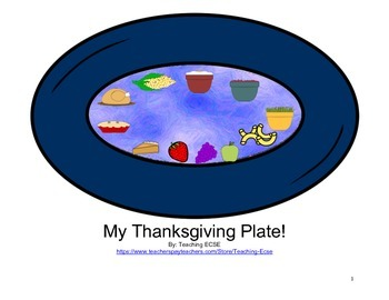 Interactive Thanksgiving Book: My Thanksgiving Plate -  PR