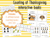 Interactive Thanksgiving Counting Books (differentiated in 3 levels!)