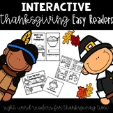 Interactive Thanksgiving Easy Reader {Sight Word Emergent Readers}