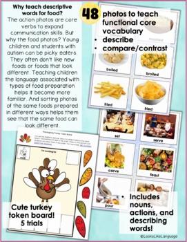Thanksgiving Past & Present- Language Arts, Spec Ed, Speech/Language