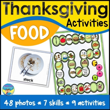 Thanksgiving Picture Language Activities for Comparing Then and Now