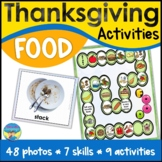 Speech Therapy Activities | Thanksgiving Language | Compar