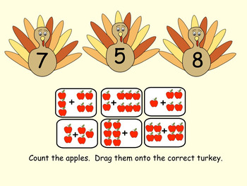 Interactive Thanksgiving Language/Math Activities for Smartboard Gr. 1