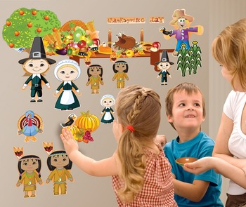 Interactive Thanksgiving Wall Play Set