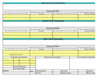 Interactive Third Grade Reading Lesson Plan Template-Florida