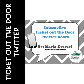 Interactive Ticket out the Door Twitter Bulletin Board