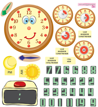 Interactive Time Telling Wall Play Set