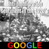 Interactive Timeline: Anti-Immigration Sentiment in the 1920's