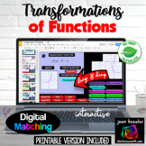 Transformation of Functions Digital with GOOGLE™ plus PRINTABLE