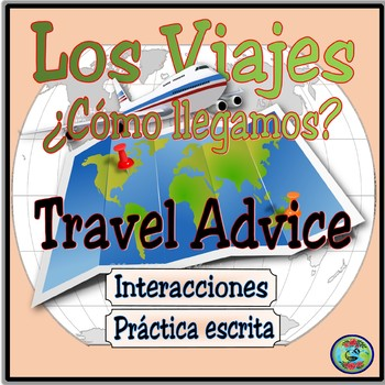 Interactive Travel Advice Prompt Cards With Images -  Consejos de viaje