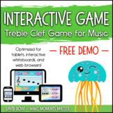 Interactive Treble Clef Game DEMO - Interactive Whiteboard