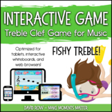 Interactive Treble Clef Game Pack - Fishy Treble!  Ocean-t