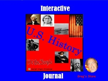 Interactive U.S. History Journal-101 Dynamic Pages!
