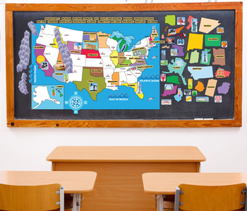 Interactive US Map Wall Play Set