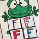Interactive Uppercase Alphabet Notebook F-J for Kindergarten and Preschool