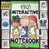 Interactive Uppercase Alphabet Notebook K-O for Kindergarten and Preschool