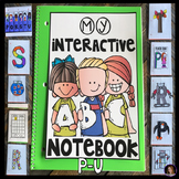 Interactive Uppercase Alphabet Notebook P-U for Kindergarten and Preschool