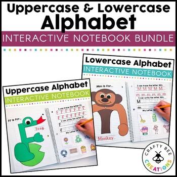 Interactive Uppercase & Lowercase Alphabet Notebooks Bundle