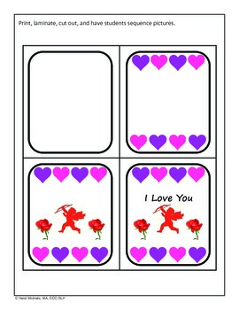 Interactive Valentine Card Building Song and Activities