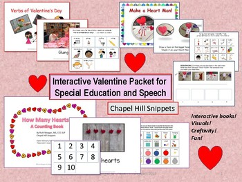 Interactive Valentine's Day Packet--Special Education/Speech