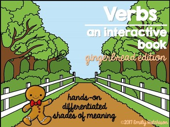 Interactive Verb Book-Gingerbread Edition