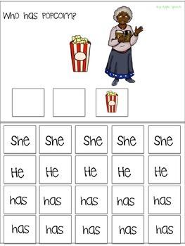 "Interactive Verb flip book ""HAS"" Sentence Creation & Syntax (Speech/Language)"