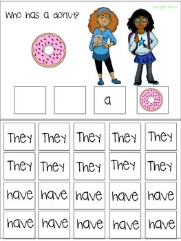 "Interactive Verb flip book ""HAVE"" Sentence Creation & Syntax (Speech/Language)"