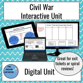 Interactive Virginia Studies Civil War Unit on Google Slides