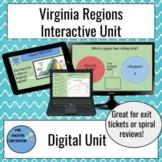 Interactive Virginia's Regions Unit on Google Slides