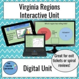 Interactive Virginia's Regions Unit on Google Slides