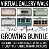 Interactive Virtual Gallery Walk Templates Growing BUNDLE - Distance Learning